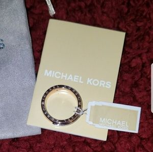 Michael Kors Tailored Two Tone Rose Gold Ring